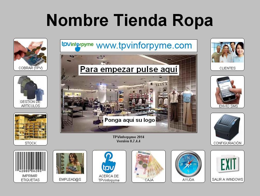 Programa TPV Tienda de Ropa y Complementos b99facd5896d0